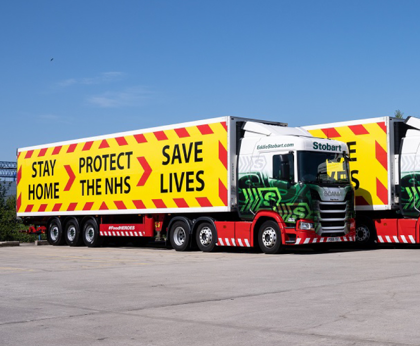 Eddie Stobart, Stay safe protect the NHS branded truck